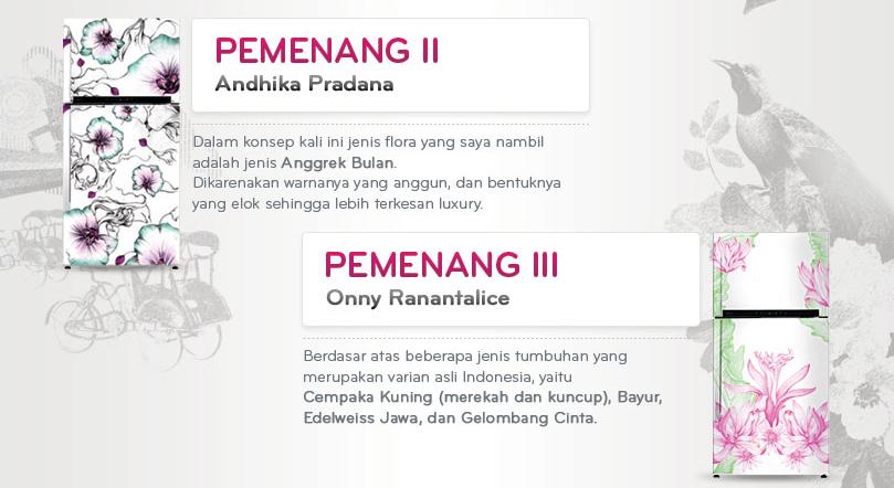 Pemenang II dan III LG Design Competition kategori Lemari Pendingin - Andhika Pradana dan Onny Ranantalice