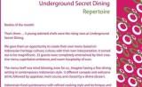 underground secret dining