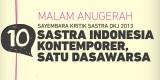 Malam Anugerah Kritik Sastra DKJ