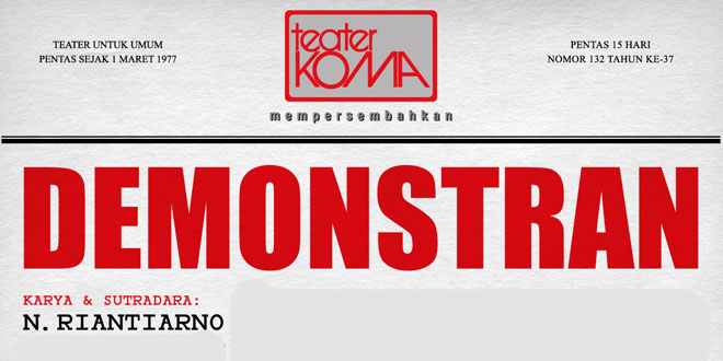 Teater Koma – Demonstran