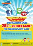 Promo Timezone Indonesia - Bonus 25 Free Game 2014
