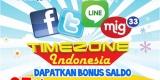 Promo Timezone Indonesia - Bonus 25 Free Game