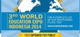 The 3rd World Education Expo Indonesia 2014 – Hadirkan Pameran dan Seminar Gratis