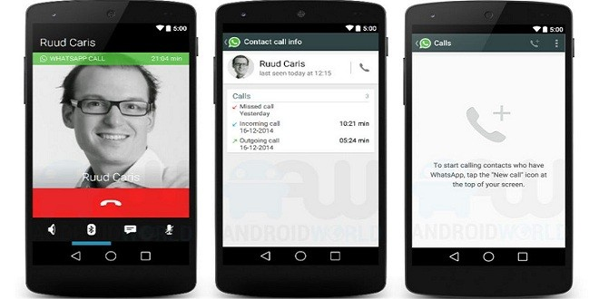 Whatsapp Voice Calling Features