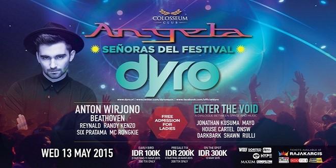 Colosseum akan menyeIengarakan event unik yang diberi nama Angela, senoras del festival. Selain event, Colosseum akan memperkenalkan satu area baru dengan standar internasional dan genre musik berbeda. Ini tentunya akan membuat dunia nightlife di Jakarta lebih semarak dan berwarna.