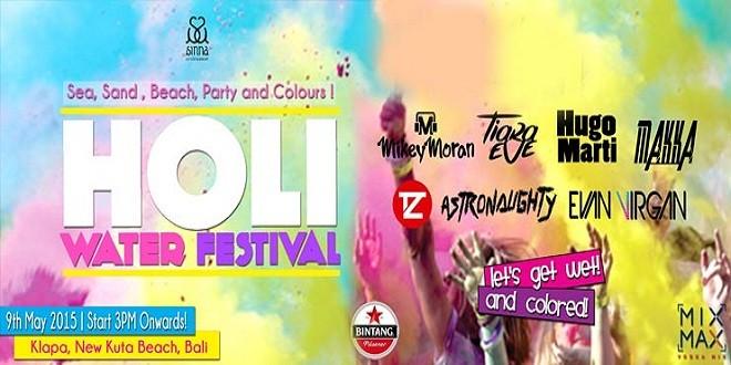 Holi Water Festival Bali 2015