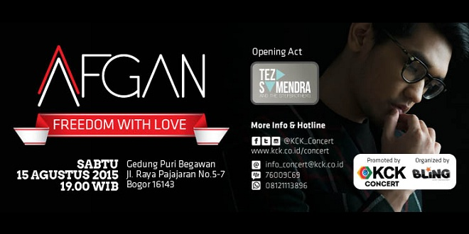 Afgan Freedom With Love Concert