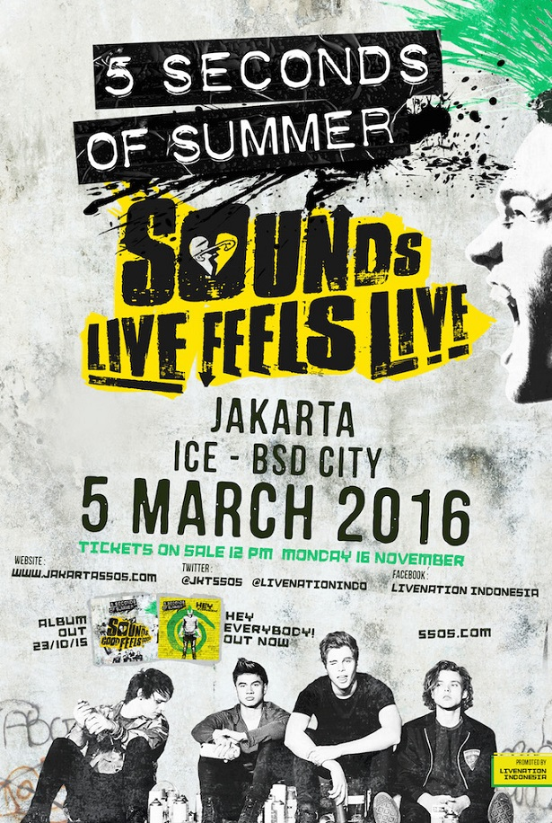 Five Second of Summer Live in Jakarta