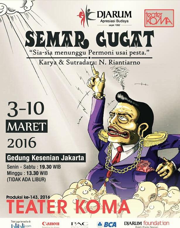 Lakon Semar Gugat oleh Teater Koma