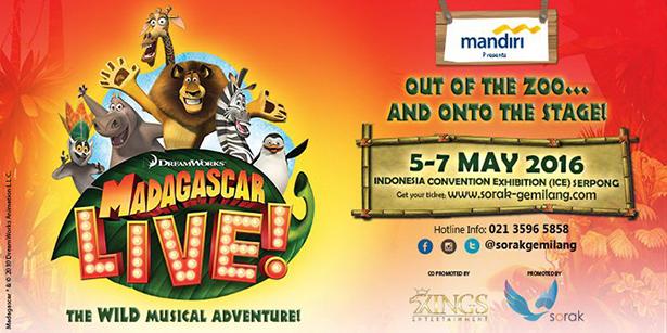 Madagaskar Live in Jakarta