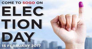 Diskon PILKADA di Sogo Election Day