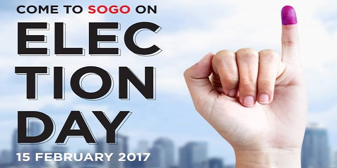 Diskon PILKADA di Sogo Election Day
