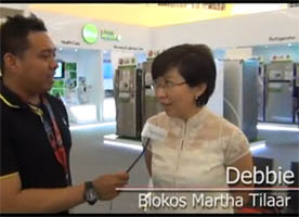Debbie - Biokos Martha Tilaar - Interview on LG Home Sweet Home Exhibition