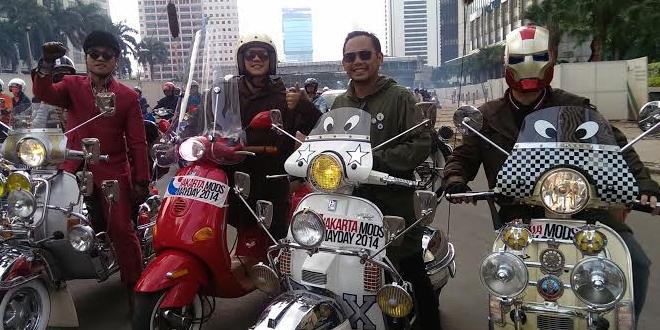 Foto-foto Kemeriahan Jakarta Mods Mayday 2014 bunderan hi