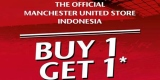 Promo Buy 1 Get 1 free Official Merchandise Manchester United in Manchester United Store Jakarta