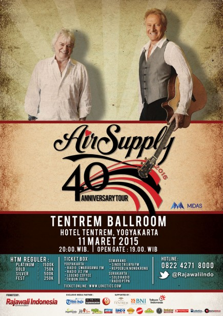 Air Supply 40th Anniversary Tour