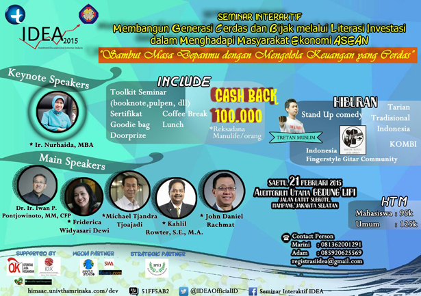 Seminar Investment Discussion and Economic Analysis 2015 (IDEA)