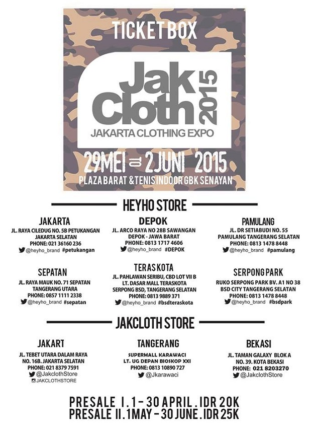 Jakcloth 2015 Ticket Box