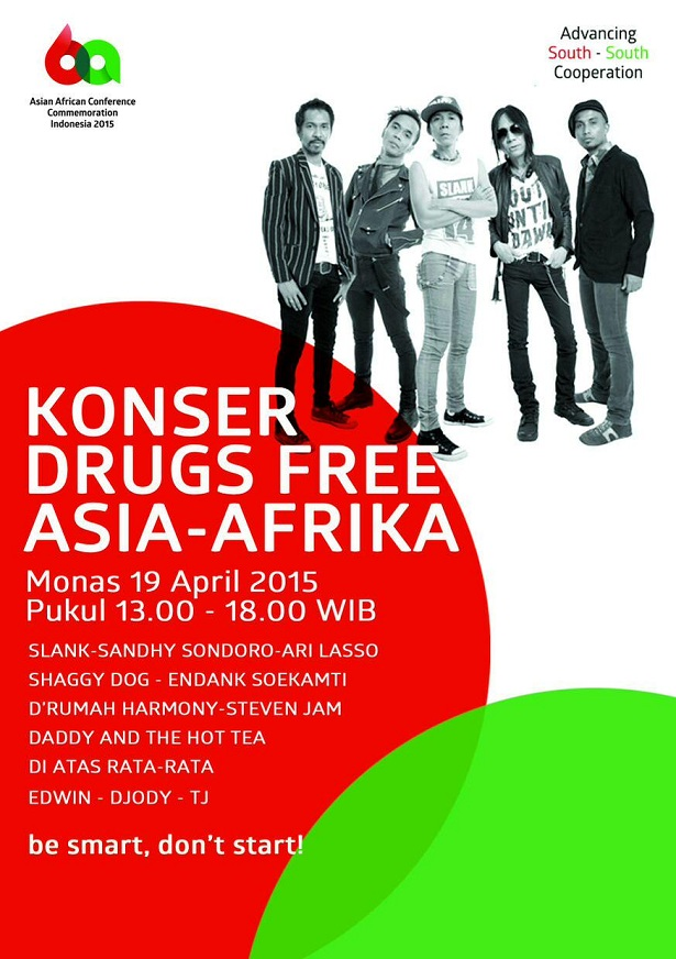 Konser Drug Free Asia-Afrika 2015