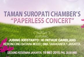 Taman Suropati Chamber's 'Papperless Concert'