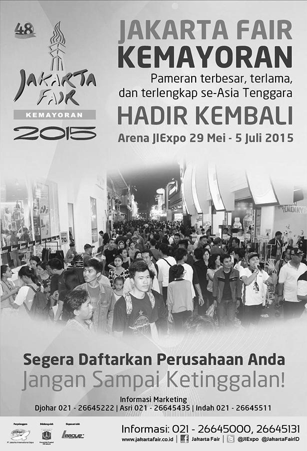"Jakarta Fair Kemayoran 2015 ""Majulah Jakartaku"""