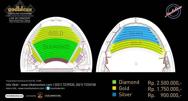 GodBless Panggung Sandiwara Seatplan