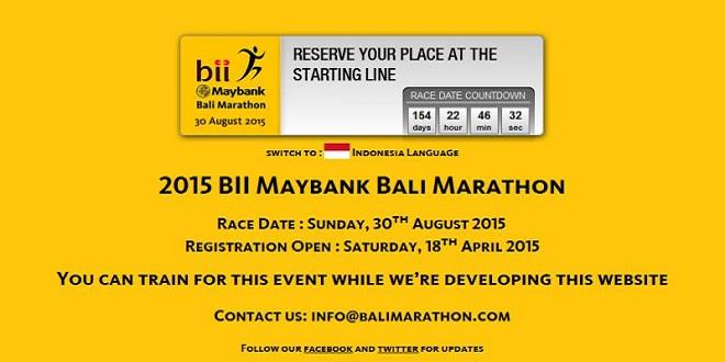 BII Maybank Bali Marathon 2015