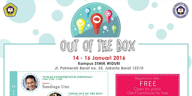 Widuri Entrepreneur Day - Out of the Box